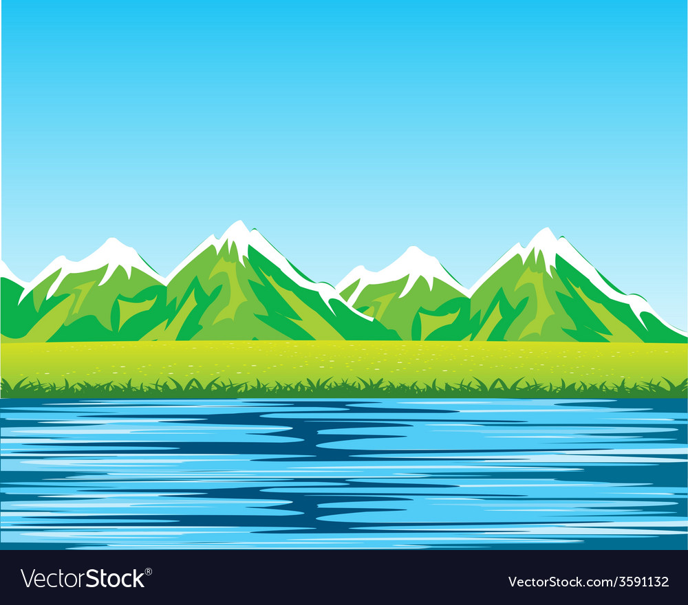Sea and mountains vector | Price: 1 Credit (USD $1)