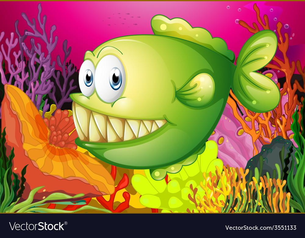 A green piranha vector   Price: 3 Credit (USD $3)