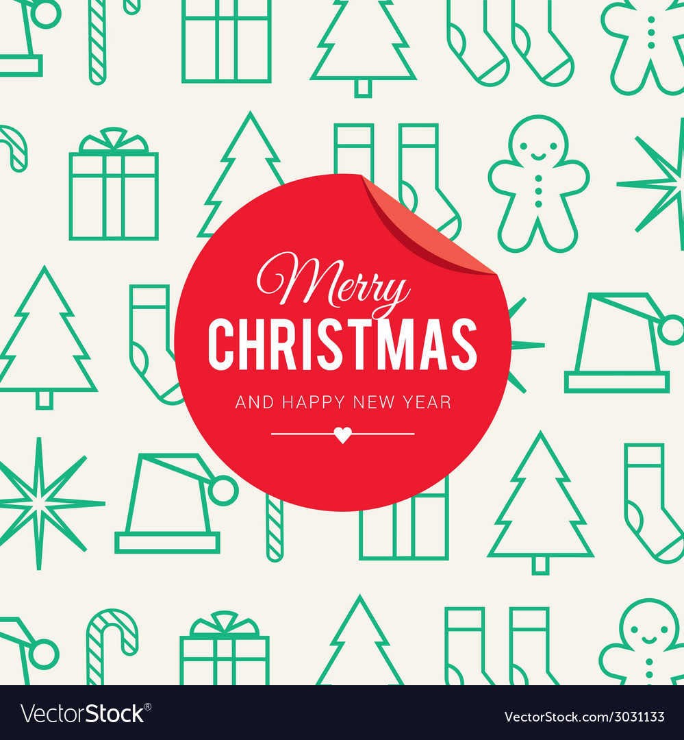 Christmas card icons vector | Price: 1 Credit (USD $1)