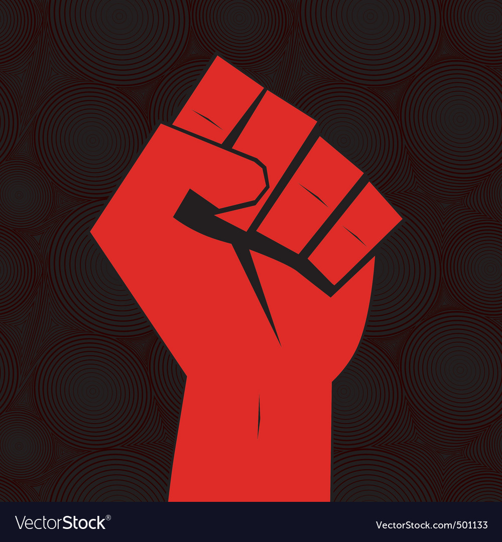 Clenched fist hand vector | Price: 1 Credit (USD $1)