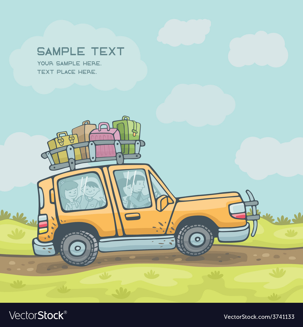 Family travel vector | Price: 1 Credit (USD $1)