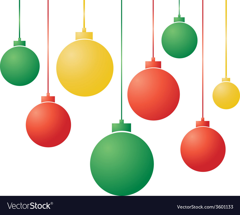 Gradient christmas balls vector | Price: 1 Credit (USD $1)