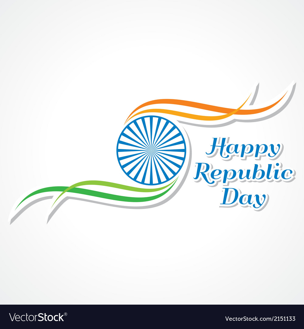 Happy republic day banner vector | Price: 1 Credit (USD $1)