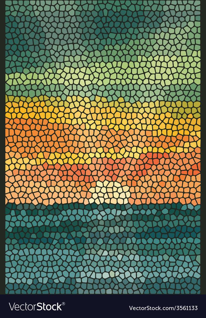 Mosaic abstract sea or ocean shore vector   Price: 1 Credit (USD $1)