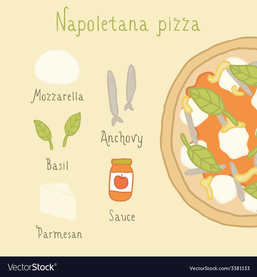 Napoletana pizza ingredients vector | Price: 1 Credit (USD $1)