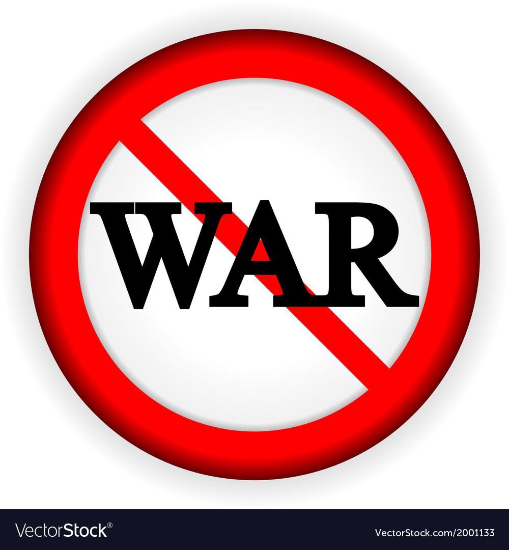 No war sign vector | Price: 1 Credit (USD $1)