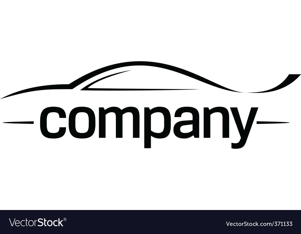 Sport car silhouette logo vector | Price: 1 Credit (USD $1)