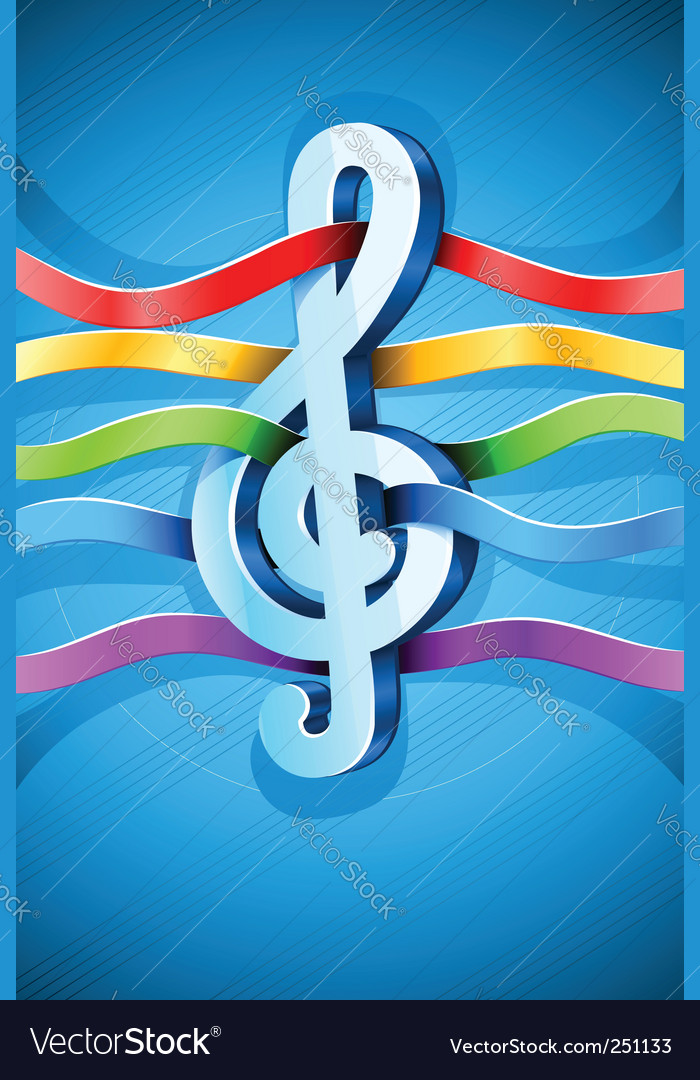 Treble clef sign vector | Price: 1 Credit (USD $1)