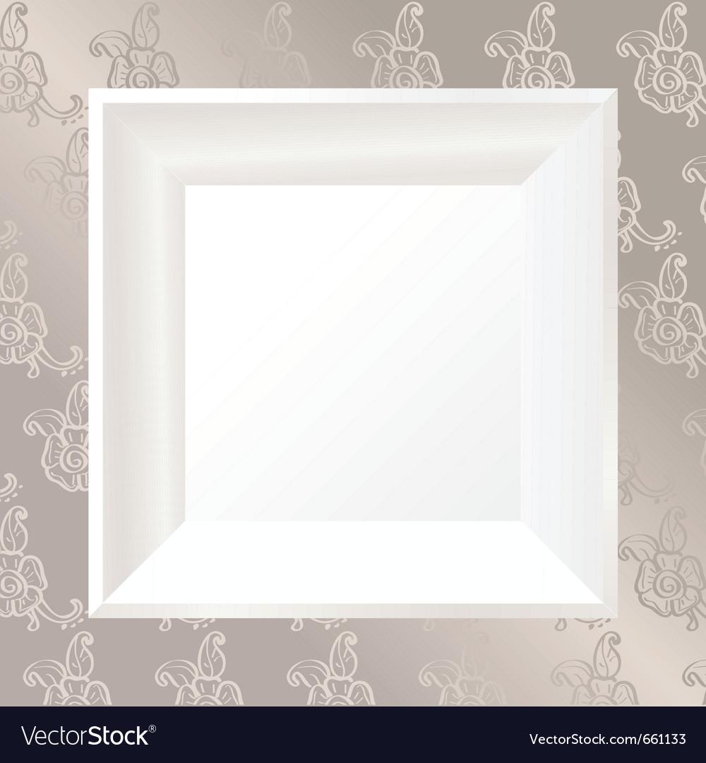 White photo frame vector | Price: 1 Credit (USD $1)