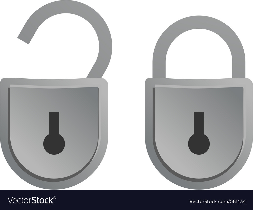 Aluminum lock vector | Price: 1 Credit (USD $1)
