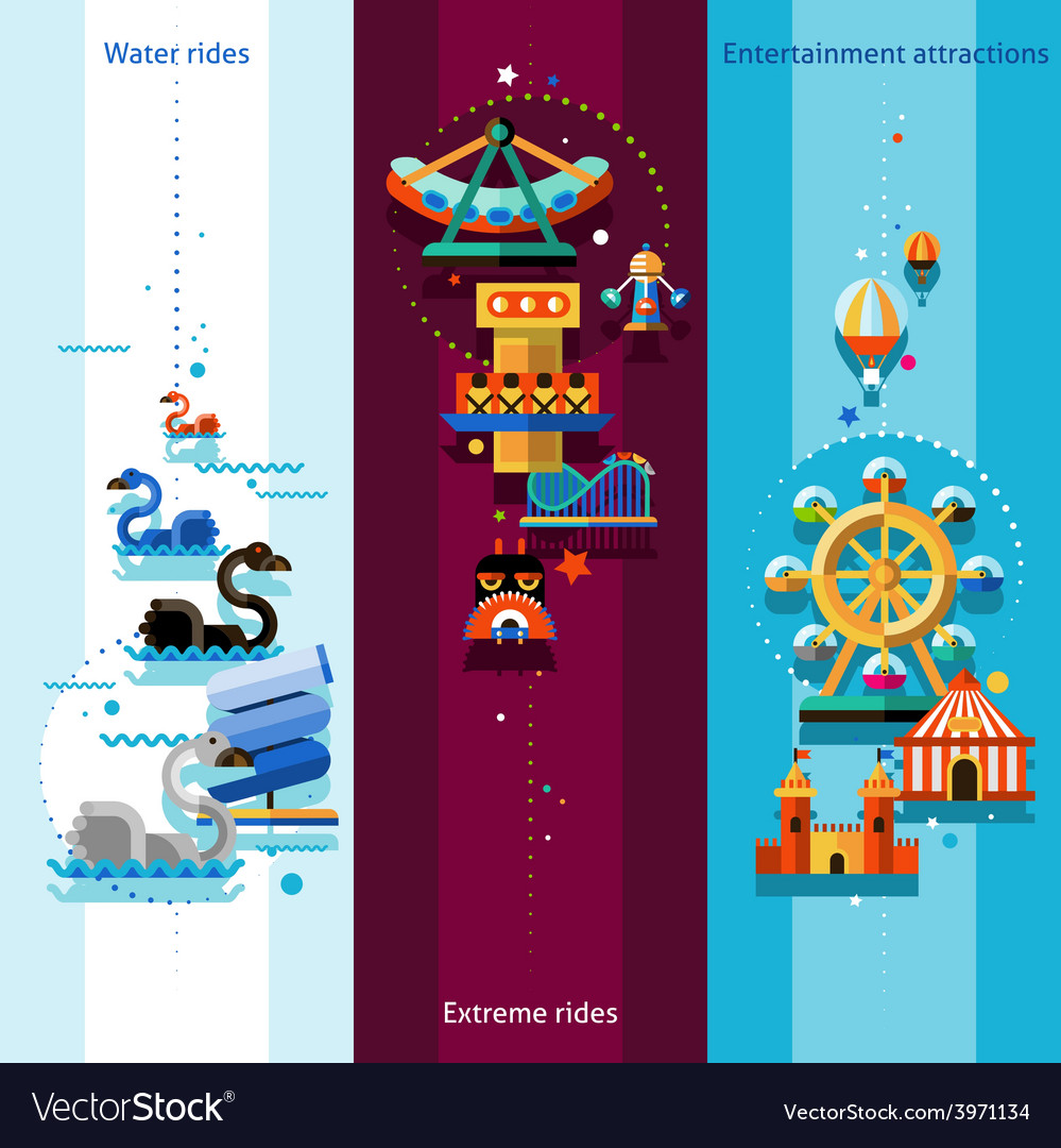 Amusement park banners vector | Price: 1 Credit (USD $1)
