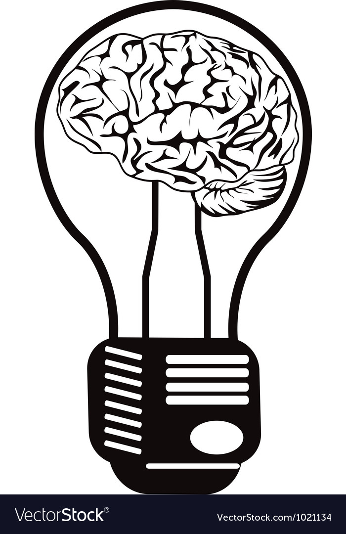 Brain light bulb vector | Price: 1 Credit (USD $1)