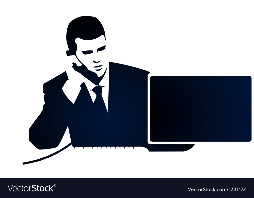 Business and phone call vector | Price: 1 Credit (USD $1)