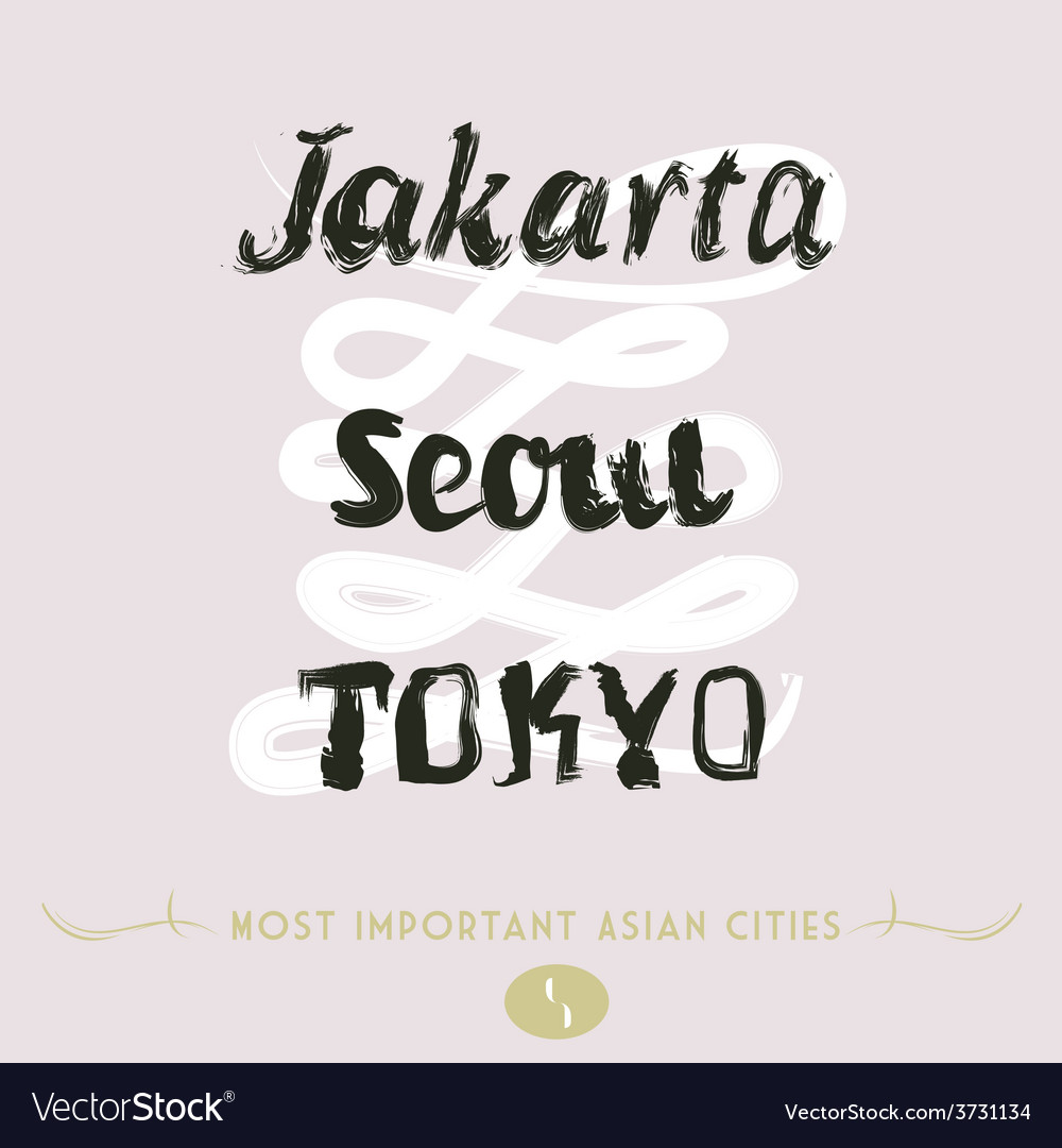 Jakarta seoul tokyo vector | Price: 1 Credit (USD $1)