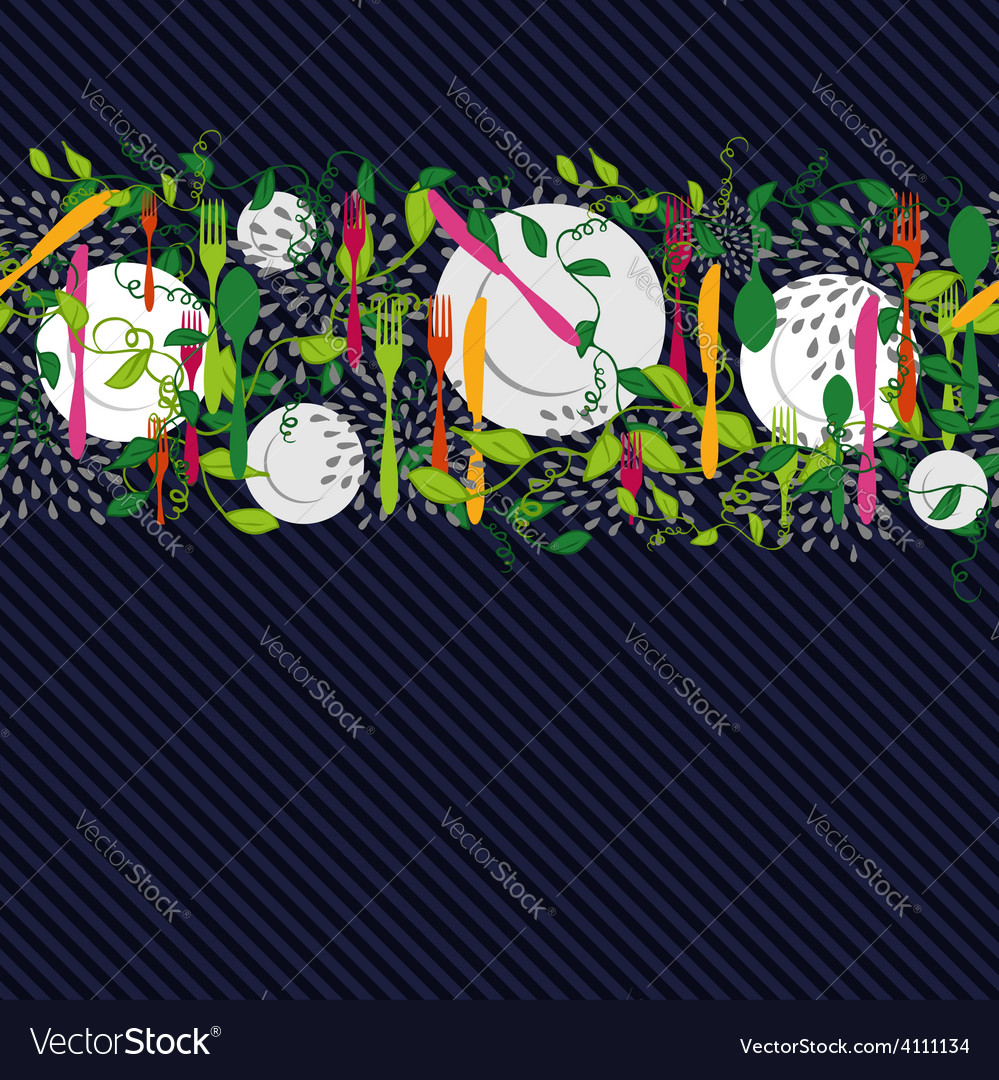 Kitchen food elements seamless pattern vector | Price: 1 Credit (USD $1)