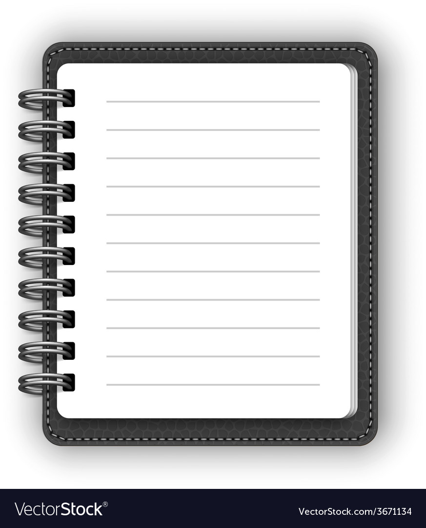 Leather spiral notebooks vector | Price: 1 Credit (USD $1)
