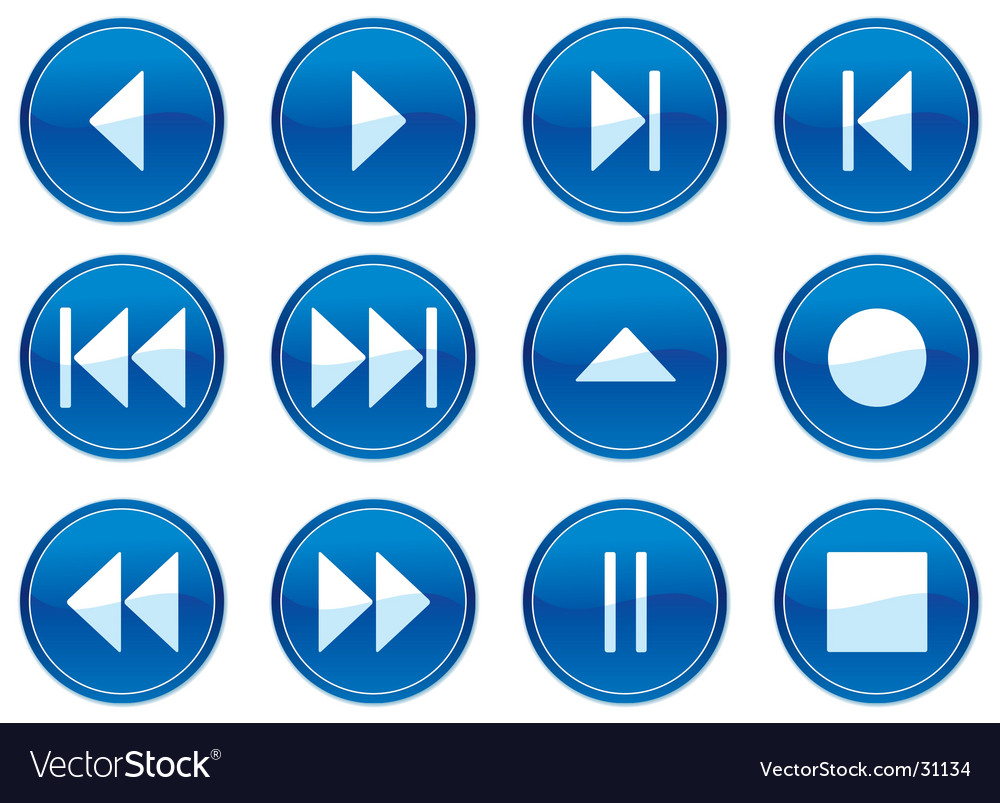 Multimedia navigation buttons vector   Price: 1 Credit (USD $1)