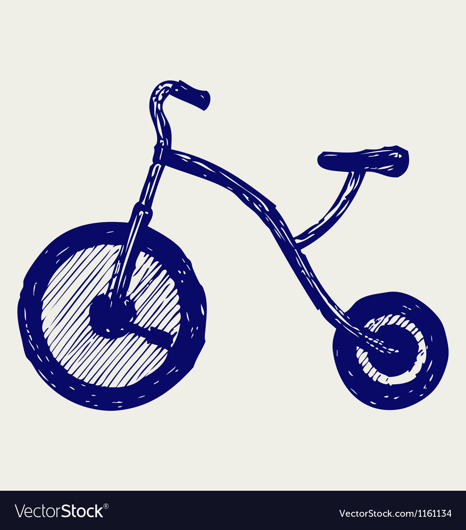 Tricycle child vector | Price: 1 Credit (USD $1)