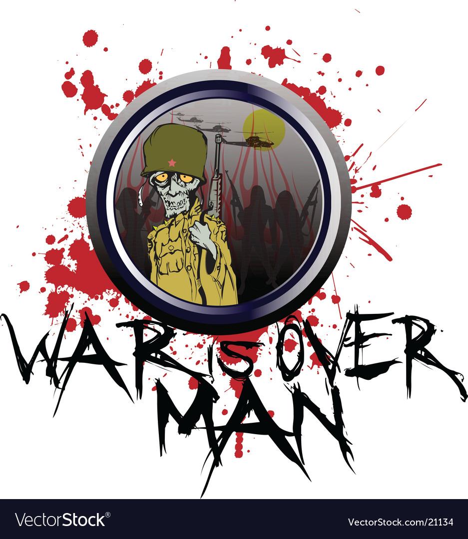 War is over man vector | Price: 3 Credit (USD $3)