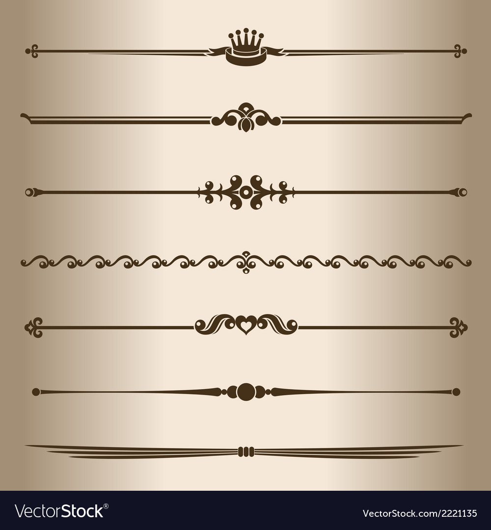 Decorative lines vector | Price: 1 Credit (USD $1)