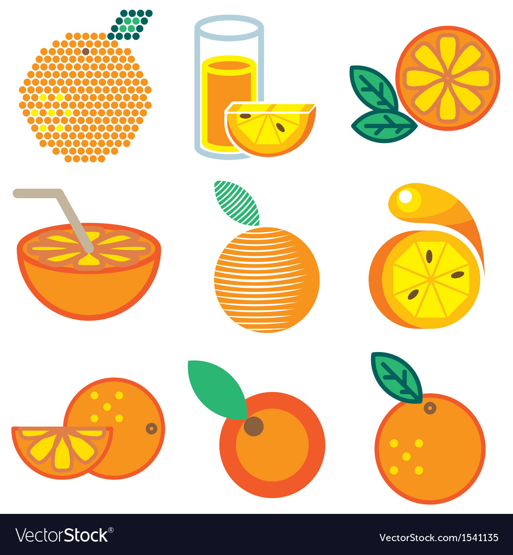 Logo icons orange vector | Price: 1 Credit (USD $1)