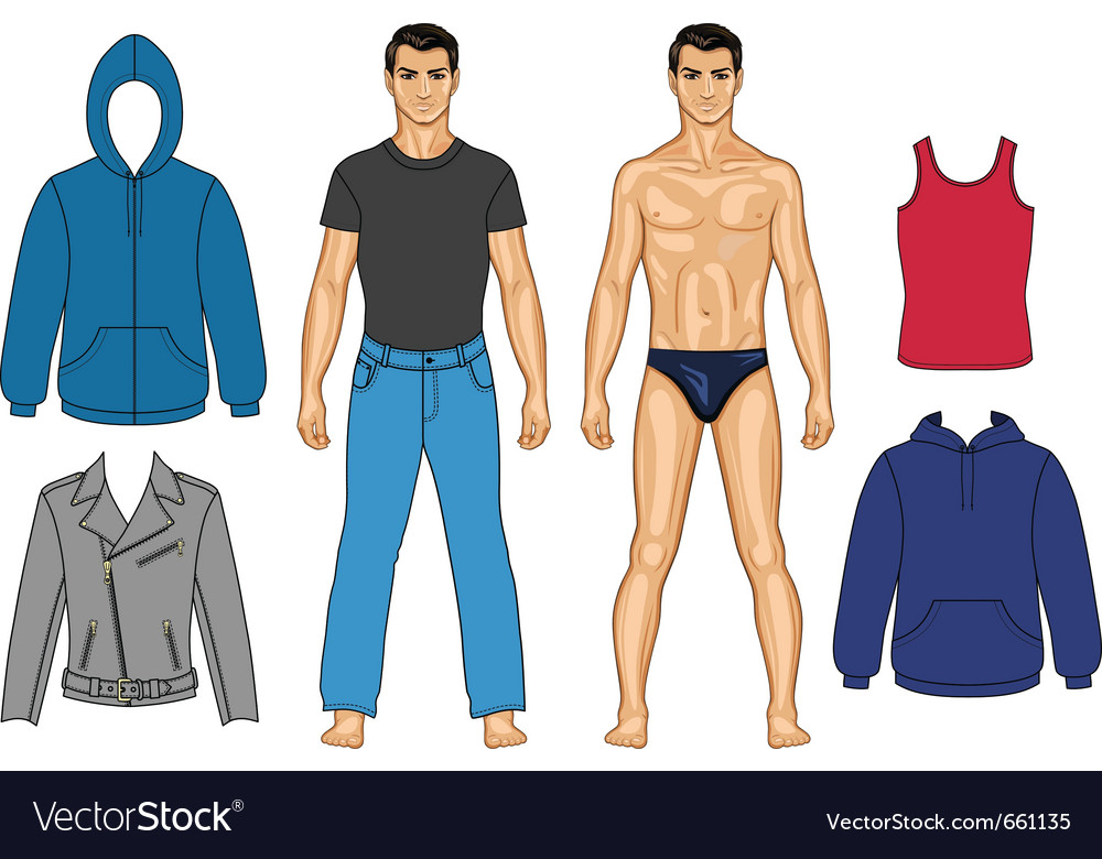 Man and clothes vector | Price: 3 Credit (USD $3)