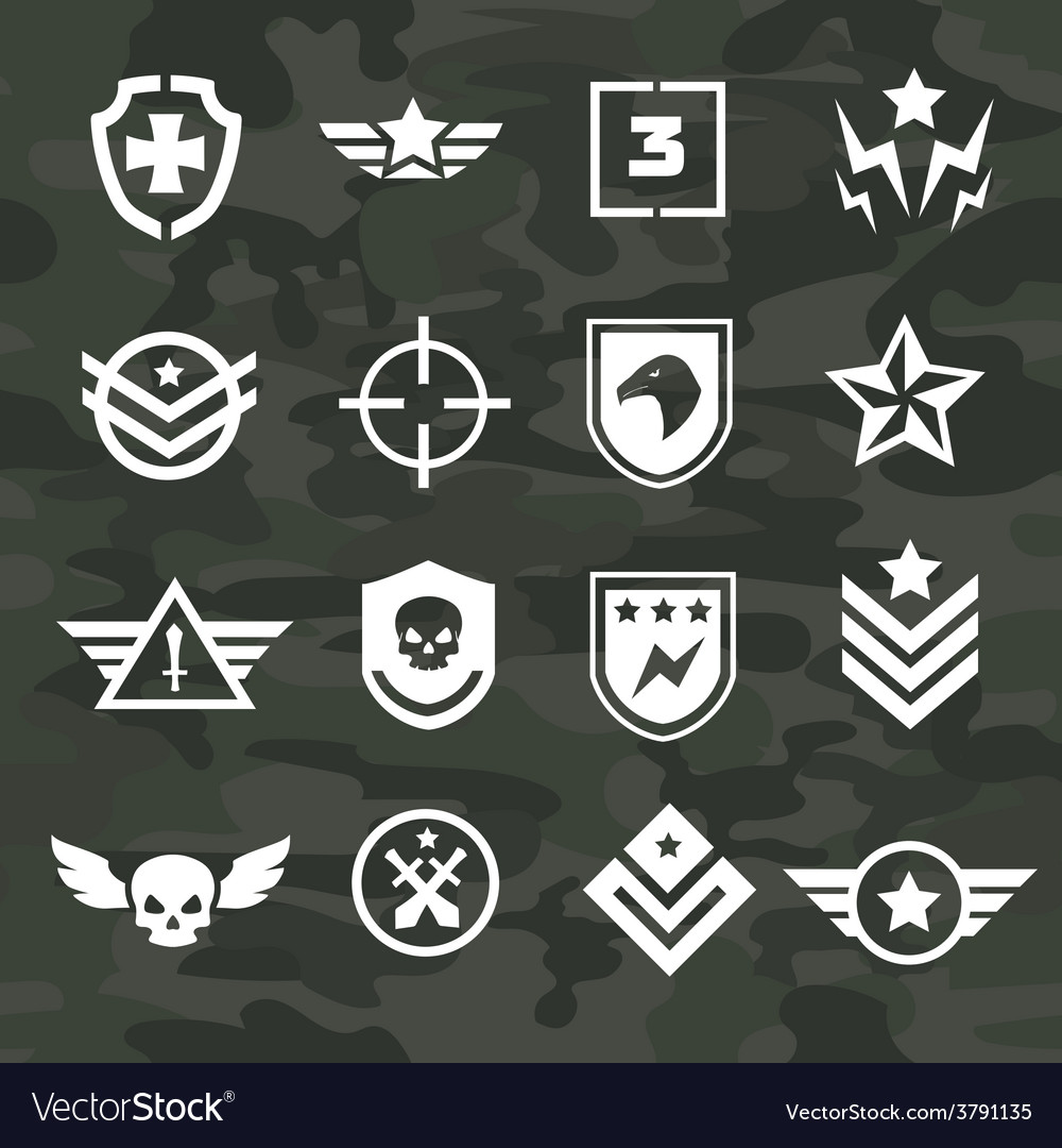 Military symbol icons and logos special forces vector | Price: 1 Credit (USD $1)