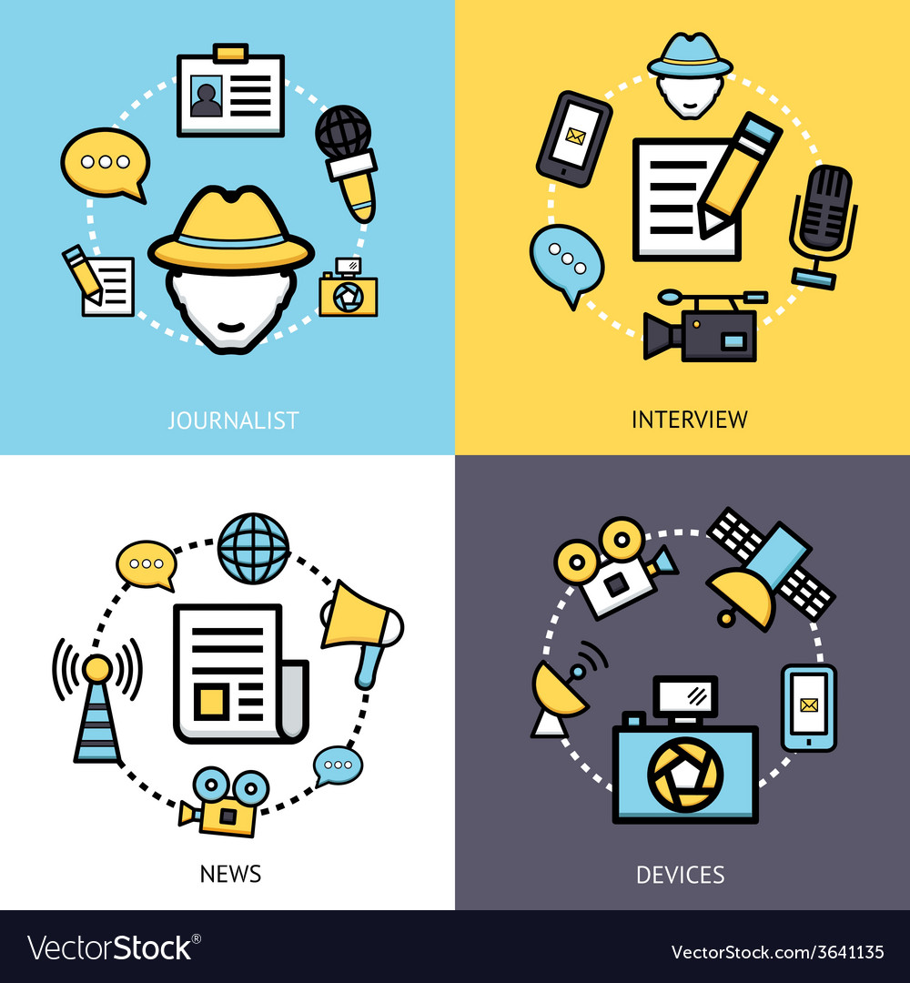 News reporter design concept vector | Price: 1 Credit (USD $1)