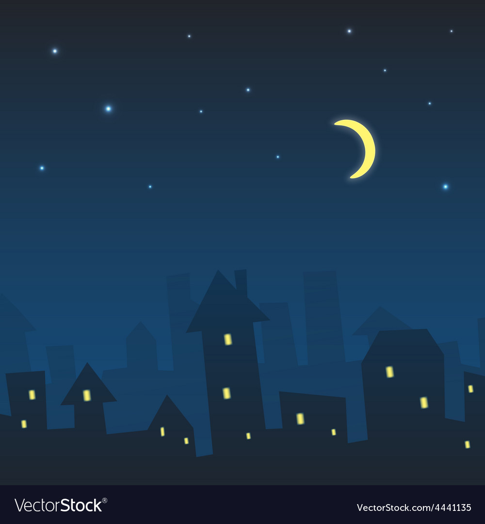 Night urban landscape vector | Price: 1 Credit (USD $1)