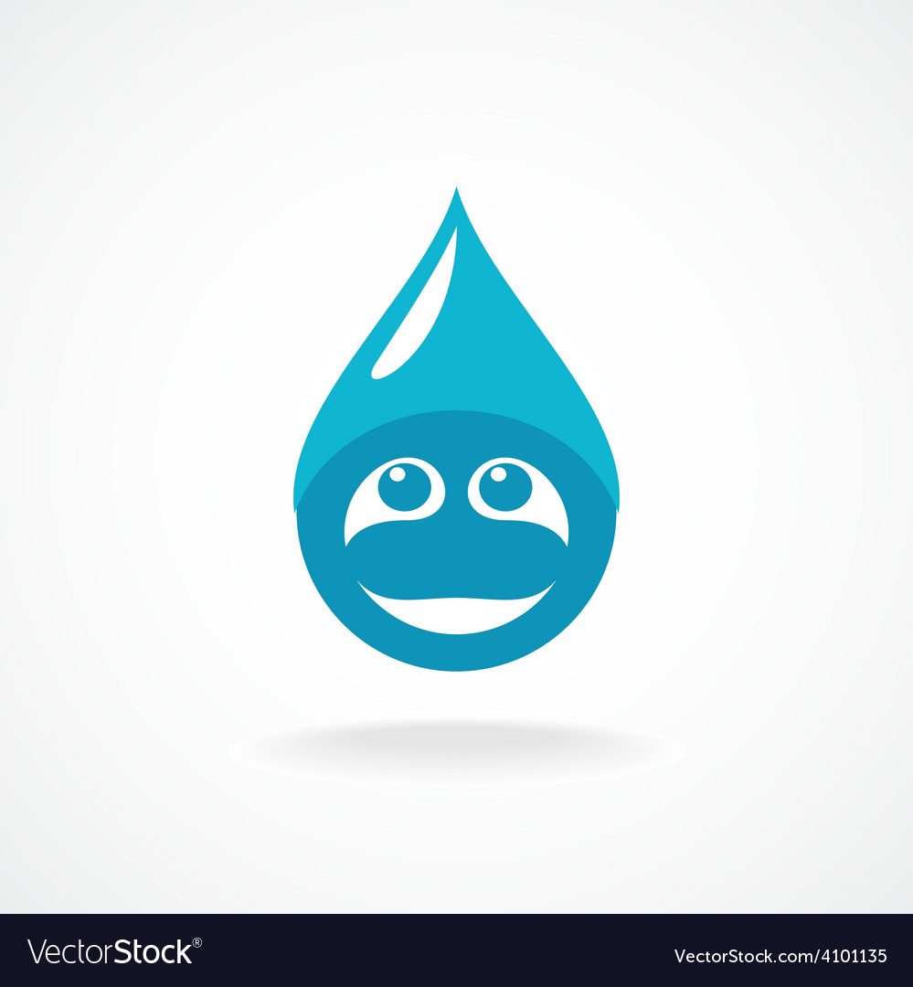 Water drop with fun face logo template vector   Price: 1 Credit (USD $1)