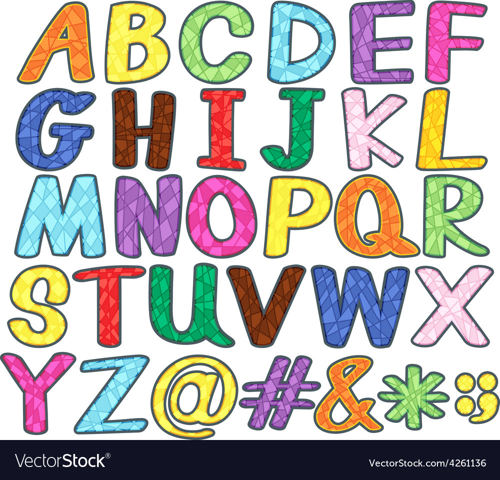 Alphabets vector | Price: 1 Credit (USD $1)