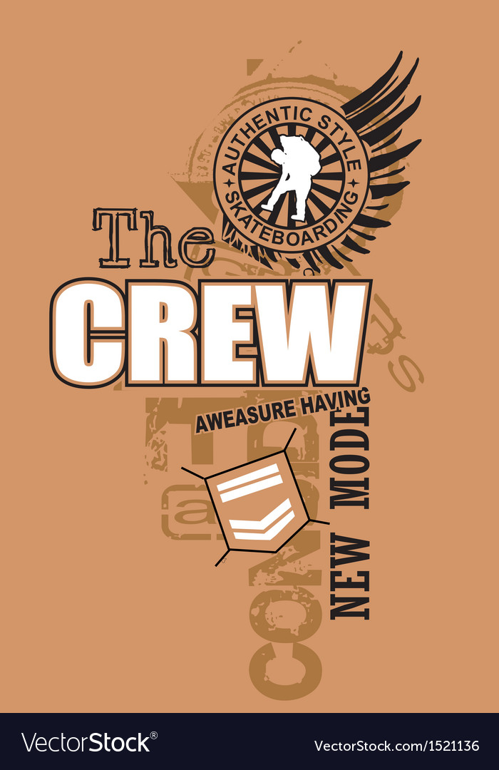 Art of design with the model crew vector | Price: 1 Credit (USD $1)