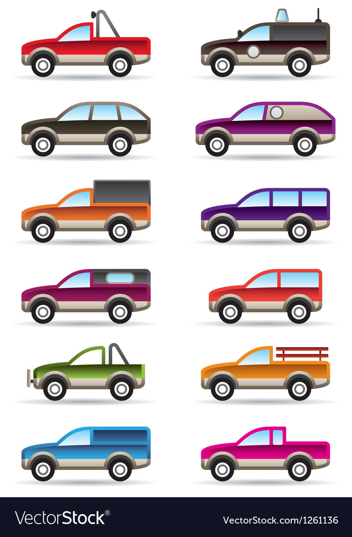 Different off road and suv cars vector | Price: 3 Credit (USD $3)