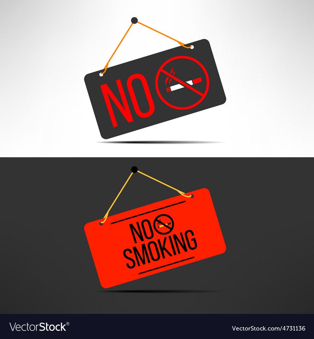 No smoking sign cigarette forbidden board vector | Price: 1 Credit (USD $1)