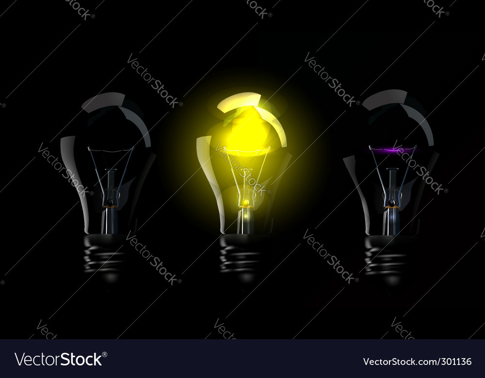 Phase blown bulbs vector | Price: 1 Credit (USD $1)