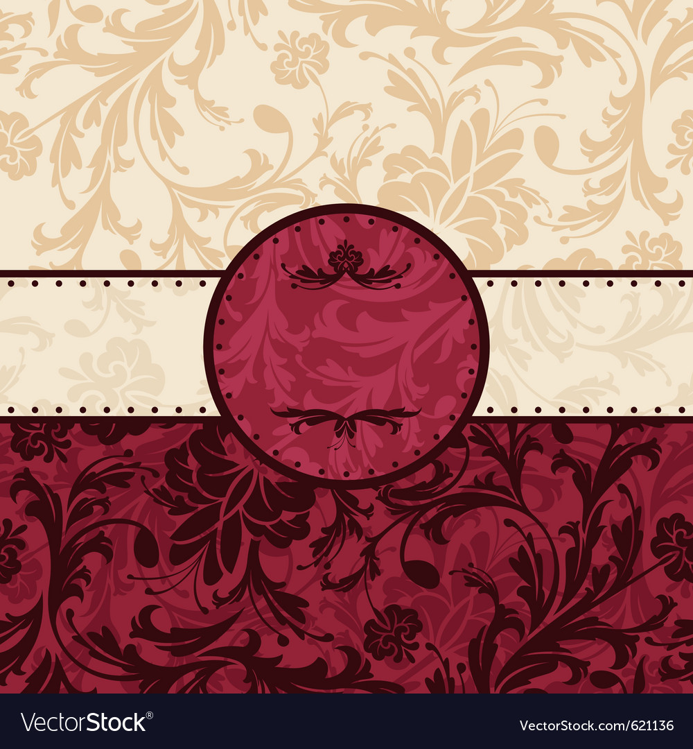 Retro vintage floral frame vector | Price: 1 Credit (USD $1)