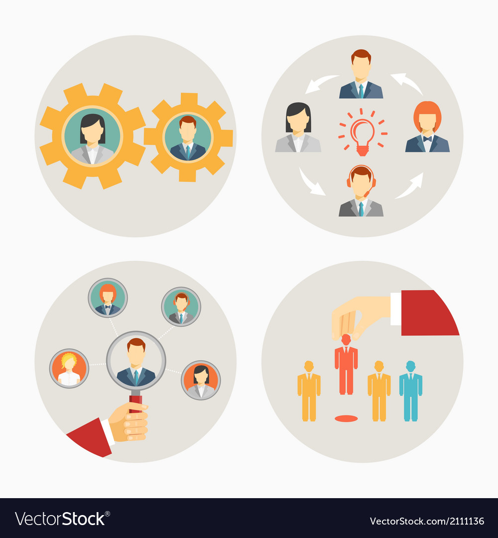 Set of business people and staff icons vector | Price: 1 Credit (USD $1)
