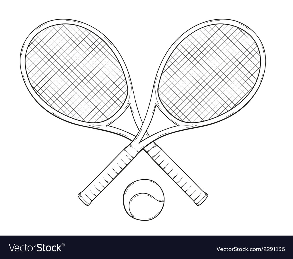 Two tenis rackets and ball vector | Price: 1 Credit (USD $1)