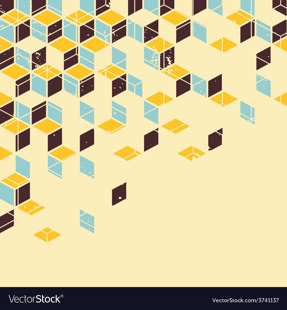 Abstract geometric retro background vector | Price: 1 Credit (USD $1)