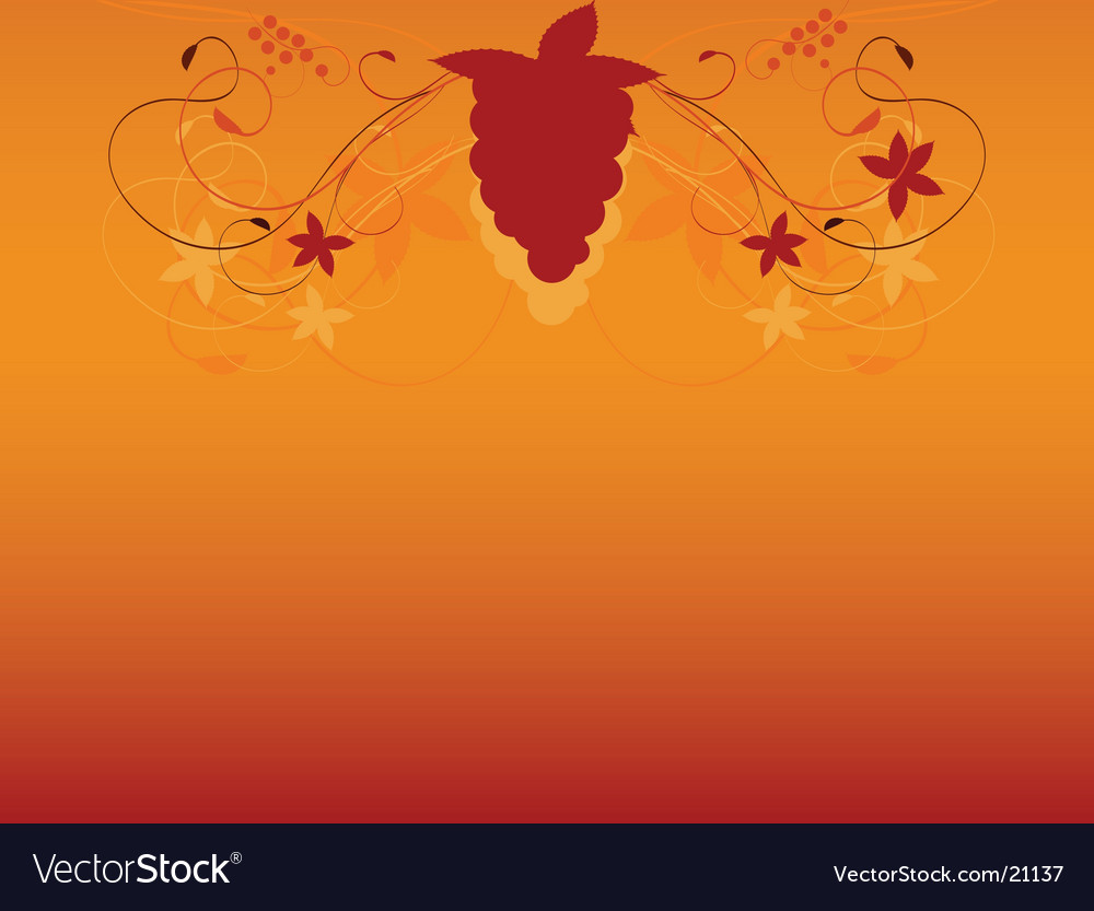 Autumn vine background vector | Price: 1 Credit (USD $1)