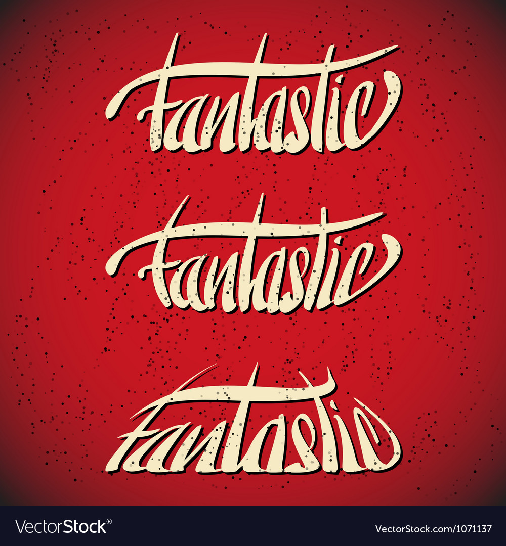 Fantastic greetings hand lettering set vector | Price: 1 Credit (USD $1)