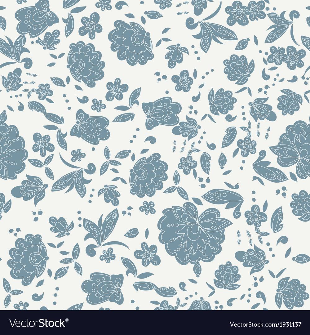 Flower branch blue background vector | Price: 1 Credit (USD $1)