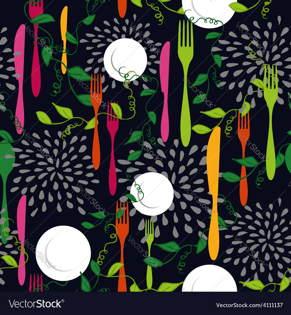 Food restaurant seamless pattern concept vector | Price: 1 Credit (USD $1)