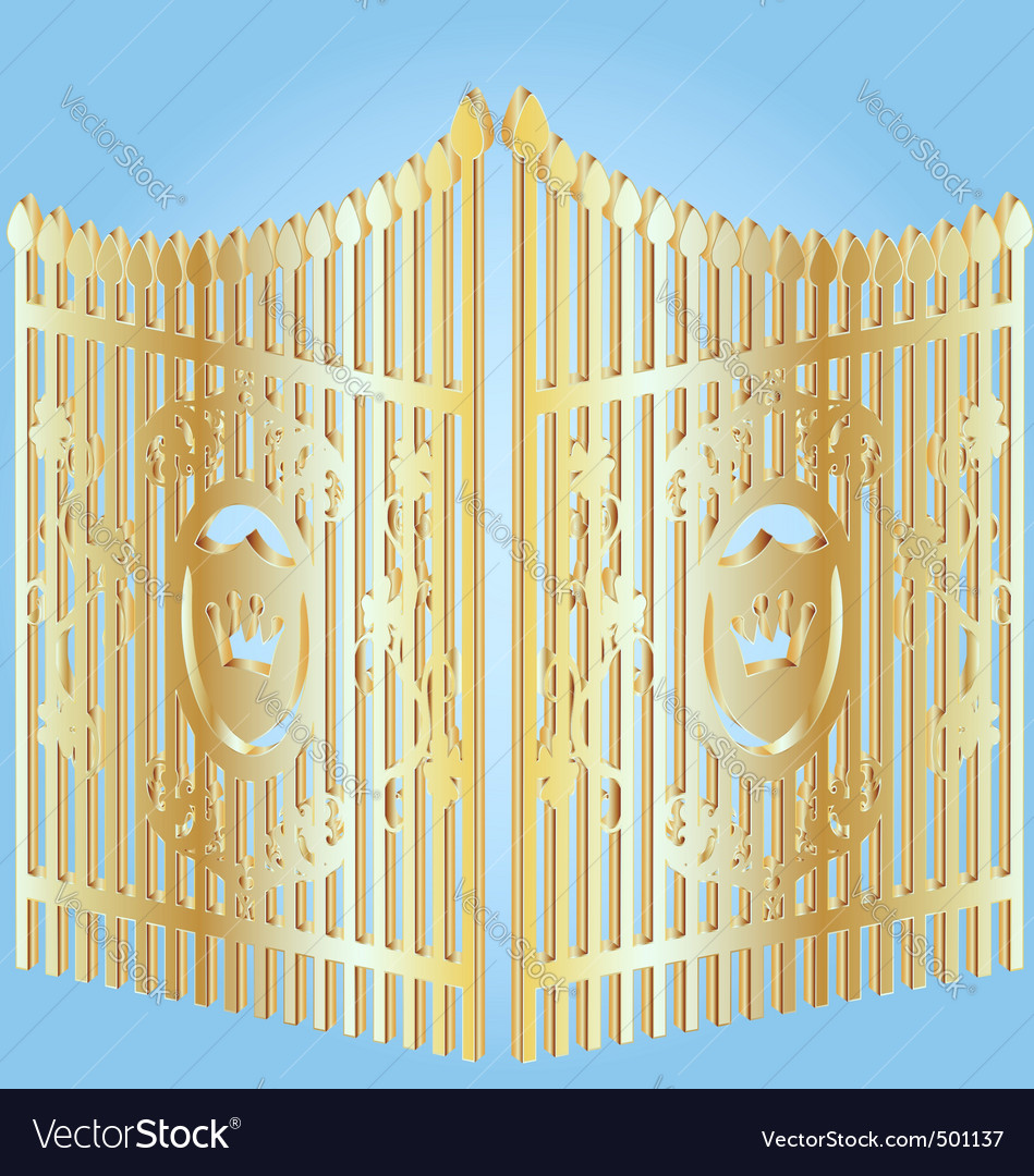 Golden gate vector | Price: 1 Credit (USD $1)