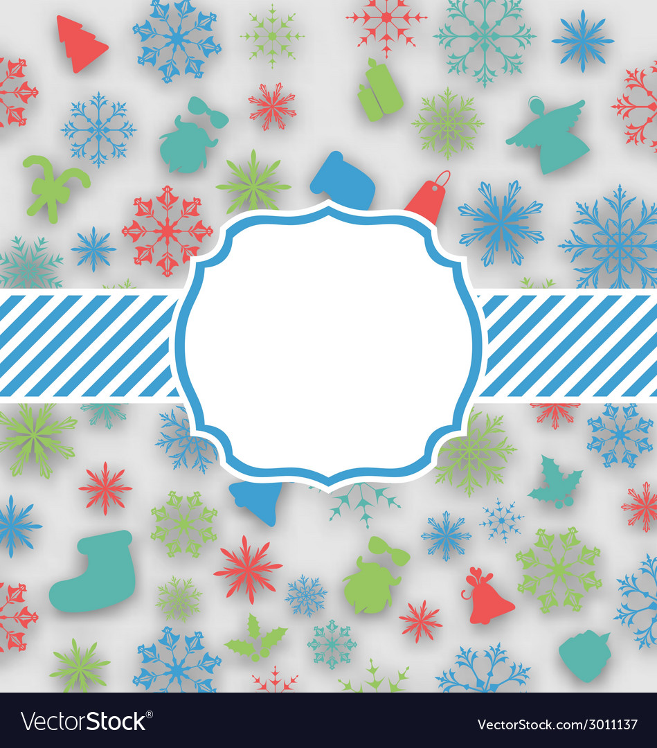 New year greeting card with copy space for yout vector | Price: 1 Credit (USD $1)