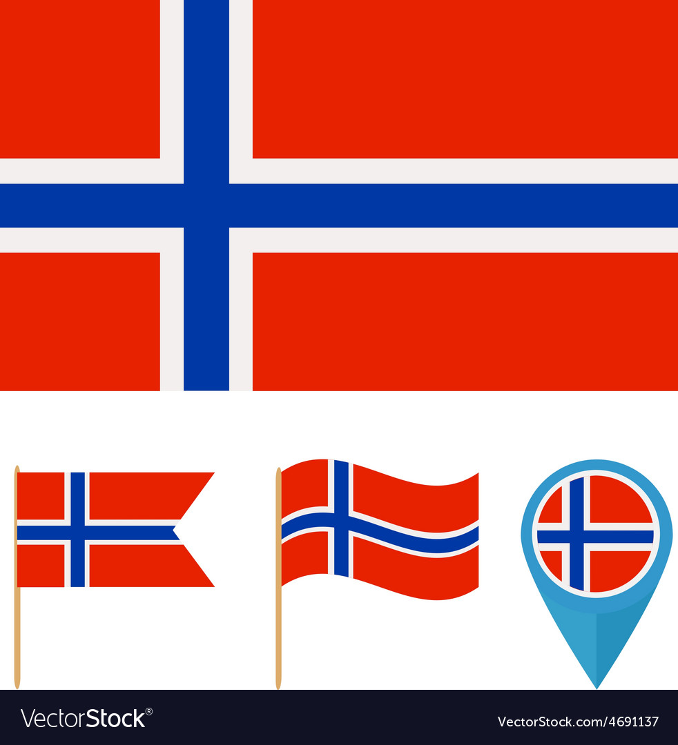 Norwaycountry flag vector | Price: 1 Credit (USD $1)