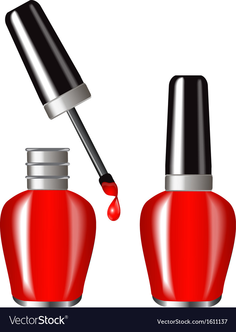 Red nail polish vector | Price: 1 Credit (USD $1)