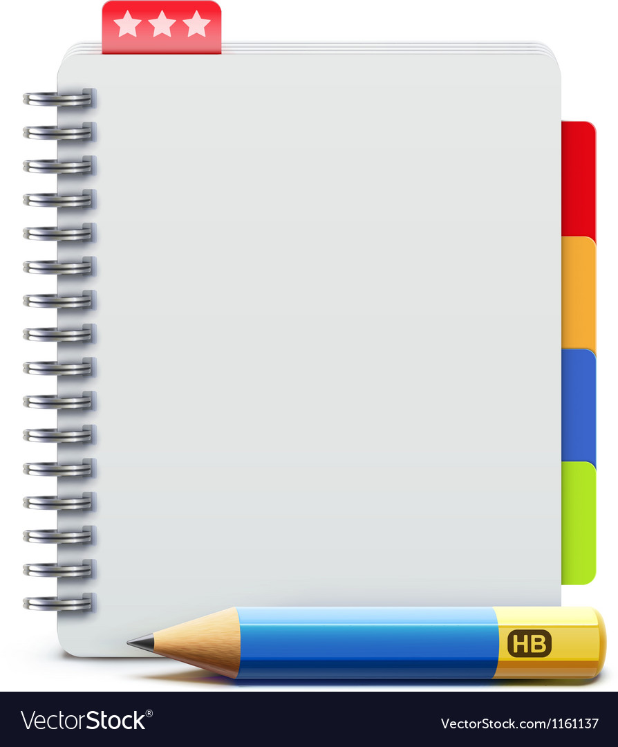 Spiral notebook vector | Price: 1 Credit (USD $1)