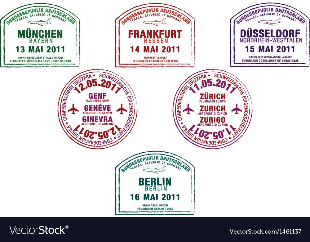 Various passport stamps vector   Price: 1 Credit (USD $1)