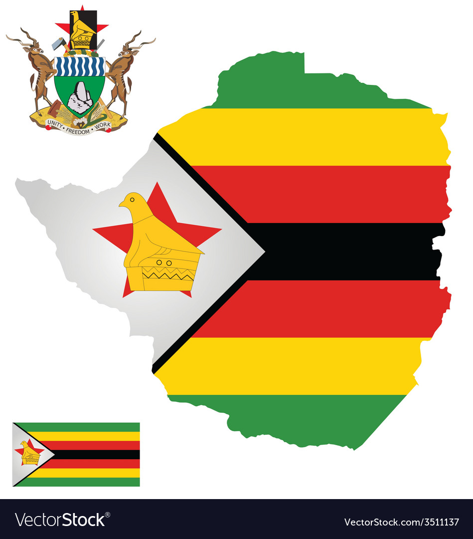 Zimbabwe flag vector | Price: 1 Credit (USD $1)